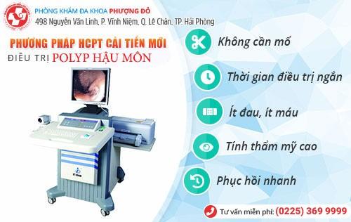 phương pháp chữa polyp hậu môn