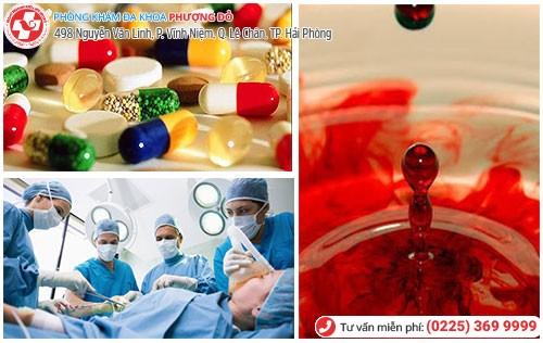 điều trị quan hệ ra máu